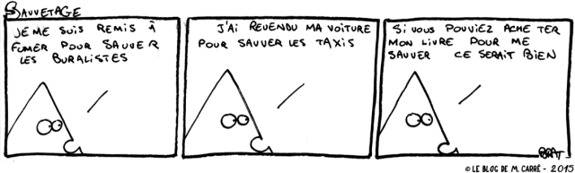 sauvetage, un strip de M. Carré
