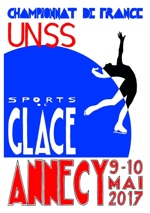 affiche UNSS championnat de France sports de glace
