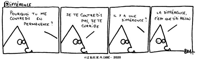 différence contradiction correction